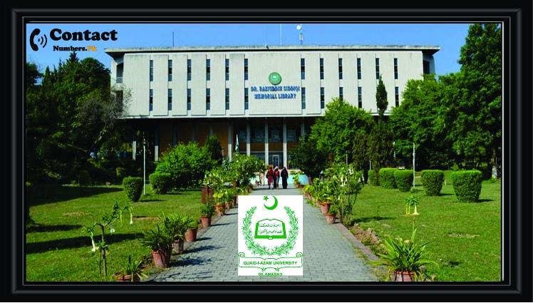 quaid e azam university qau islamabad