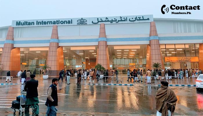 multan international airport contact number