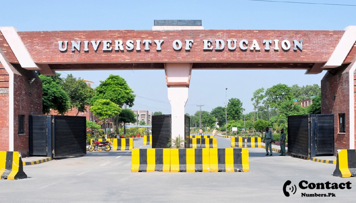 university of education lahore contact number