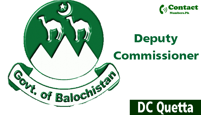 dc quetta contact number