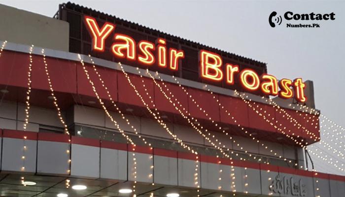 yasir broast contact number