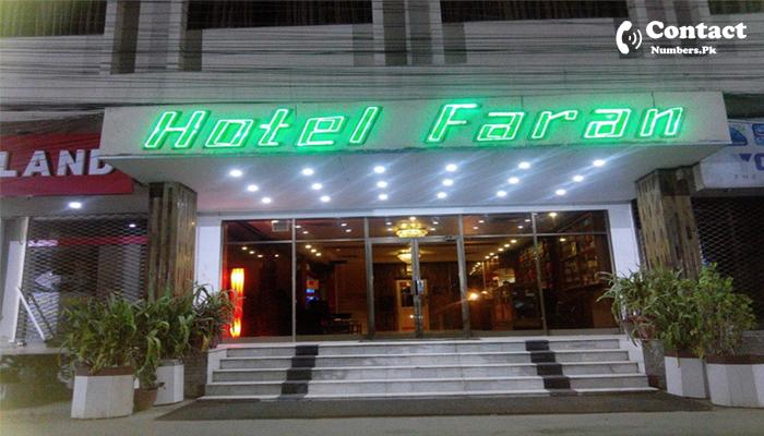 hotel faran karachi contact number