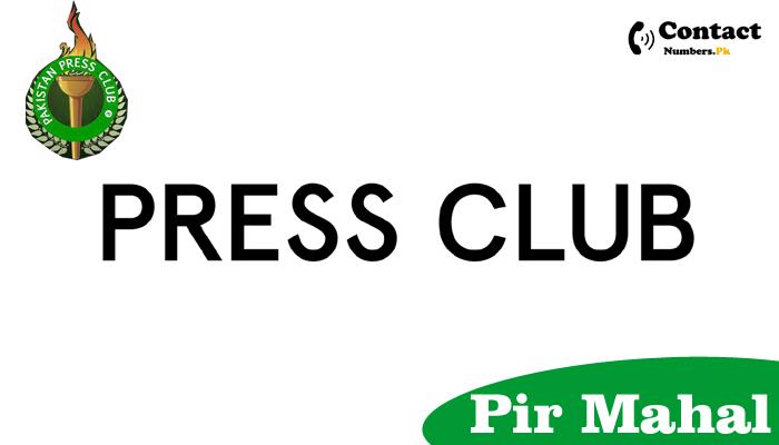 pir mahal press club contact number