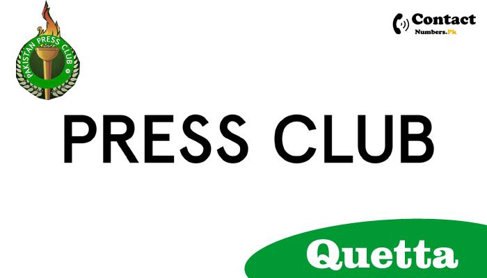 quetta press club contact number