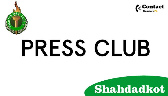 shahdadkot press club contact number