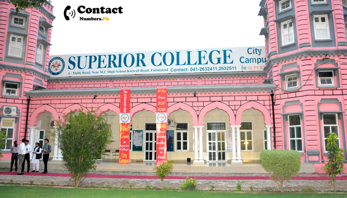 superior college lahore contact number